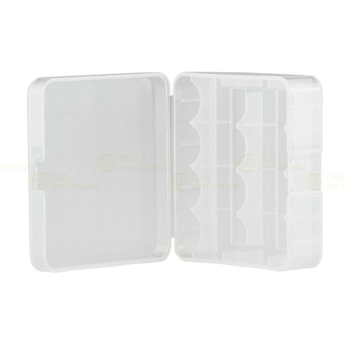 Akku Aufbewahrungsbox (transparent) für 2x 26650 oder 4x 18650